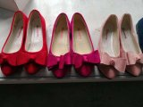As mulheres doce/Senhora Calçado plana, as mulheres de PU/Lady Calçados, calçado de moda, 20000 pares