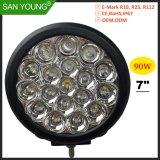 7 polegadas LED 90W luz de trabalho de condução LED LED de luz LED da lâmpada de trabalho para luz de nevoeiro Offroad 4X4