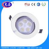 9W de alta calidad Venta caliente en el techo de alto brillo LED Lámpara de luz tenue iluminación del hogar