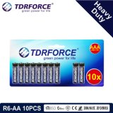 1.5V China Fabrik-Zink-Kohlenstoff-Batterie-Großhandelspreis (R6-AA 16PCS)