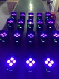 4PCS 10W RGBWA UV LED 동위 빛