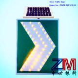 Signe de route actionné solaire durable en aluminium de Chevron de cru de prix usine