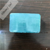 Sabão transparente azul da família do hotel do sabão do ambiente da forma da lua