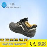 Calzature di cuoio dei pattini di sicurezza degli uomini d'acciaio della mascherina con la banda riflettente