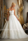 Tulle-Hochzeits-Kleid der Reich-Schleife-Serie Embroidary Prinzessin-Brautkleid
