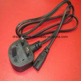 Negro de 1,5 millones de Bsi aprobado UK Cable con IEC 320 C13