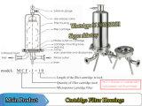 Alojamento do Filtro sanitárias dos alojamentos do filtro de cartucho único