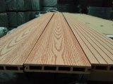 Decking compuesto del precio de fábrica de 140X25m m WPC para la decoración de la construcción
