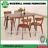4PCS椅子セットが付いている木の円形のダイニングテーブル