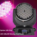Déplacer la tête de lumière LED/LED 108X3w Moving Head Wash