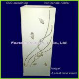 Fabricación de láminas de metal personalizados Portavelas patrones de mecanizado CNC
