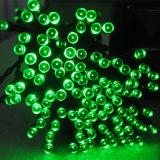 Colores varios LED Solar de las luces de la cadena de hadas de la luz de la cadena de decoración de Navidad