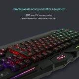14 мультимедийных клавиш и светодиодной подсветкой клавиатуры (КБ-1902игры EL)