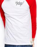 주문 남자의 긴 소매 야구 Raglan t-셔츠