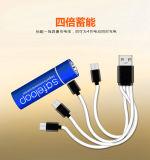 AAA 1,5V Carregador de bateria recarregável USB 600 mAh