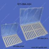 Comercio al por mayor aspecto claro de tamaño mediano y gran tamaño diferentes espumas de recogida de la pesca con mosca fly Box 09A-H24M/L