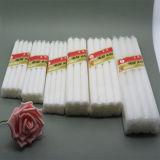 Helle flammenlose Weiß-Kerzen der Kerze-/Kegelzapfen