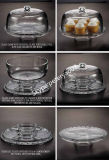 Причудливый Wedding Cake Stand, Food Glass Dome Cover с Plate