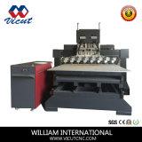 Mesa de máquina CNC mover los muebles de madera giratorio Router-TM2515Apv fr-8h
