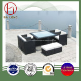 9PCS Leisure Rattan Patio Garden Outdoor Dining Table and Chair