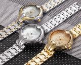Orologi del quarzo del regalo delle signore della lega di disegno della manopola del foglio di Belbi
