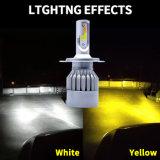 2017 le meilleur phare duel H4 de véhicule de la couleur DEL avec l'ampoule automatique de DEL et le nécessaire CACHÉ