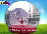 La publicité de la bille gonflable de neige de neige de bille gonflable de globe pour la décoration de Chritmas
