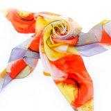 Sciarpa di seta del raso stampata Digitahi per le donne