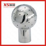 Acier inoxydable 316 Hygienic Tri Clamp CIP Balle rotative rotative