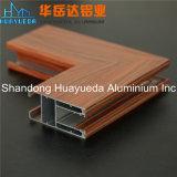 Profils en aluminium d'extrusion du bâti en verre en bois de Windows de tissu pour rideaux