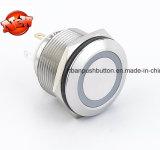 RGB Drie LEDs 22mm de Schakelaar van de Drukknop van het Metaal