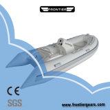 2019 8 passager bateau gonflable rigide en fibre de verre /nervure patrouille militaire de bateau à moteur