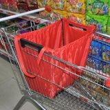 Suppermarket 트롤리를 위한 재사용할 수 있는 420d 옥스포드 나일론 Foldable 쇼핑 카트 부대