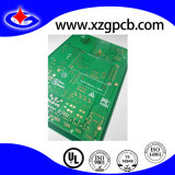 PCB 2 capas de inmersión con oro y verde máscara de soldadura