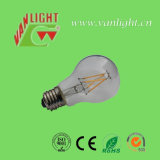 A60 lámpara del bulbo del filamento del LED 6watt con CE, RoHS