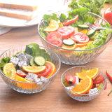 Salade de silex de gros bol en verre bol en verre