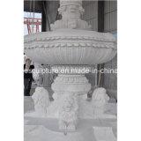 Fontana di marmo bianca di alta qualità intagliata mano con la scultura del leone (SY-F132)