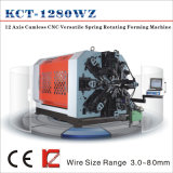 Kct-1280wz 8mm 12 Axis Camless CNC Versatile Spring Rotation Forming Machine&Torsion/Tension/Scroll Spring Making Machine