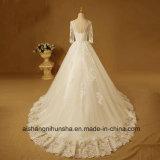 Neu Brautkleid-Backless bördelndes Hochzeits-Kleid oben sich schnüren