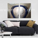 Großer silberne Folien-Hintergrund-Auszugs-Farbanstrich für Wand-Dekor