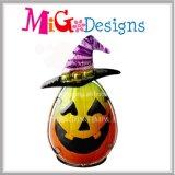 Calabaza Halloween OEM Metal y vidrio Candelero