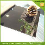 Strato rivestito dell'acciaio inossidabile del nero dell'acciaio inossidabile di colore dell'oro dello specchio