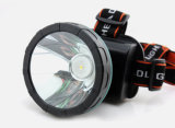 Construido en CREE Q5 LED Headlamp de Rechargeable Super Focusing Long Range