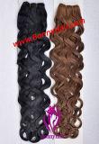 Itália máquina de ondas feitas Hair tecem Extensão de cabelo, 100% virgem Remy de cabelo humano melhor qualidade, ordem especial pode ser personalizado