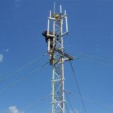Guyed Enrejado de acero de la torre de la señal de comunicación