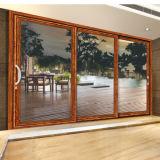 Portello di legno di alluminio di vetro di stile americano