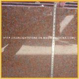 Polimento Tianshan Lajes de granito vermelho de azulejos do piso ou bancadas