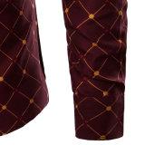 Vente en gros de chemises habillées en fil personnalisé à la mode (A437)