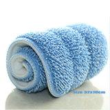 Deux de couleur bleu de la taille du tampon de balai plat en microfibre