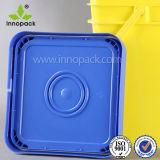 Contenitore quadrato del commestibile 20L con la benna di plastica quadrata dei coperchi